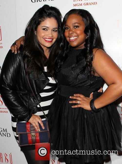 Amber Riley and Guest Amber Riley celebrates her...