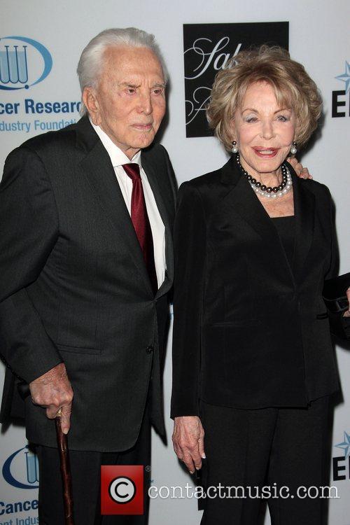 Kirk Douglas, Anne Douglas and Beverly Hilton Hotel