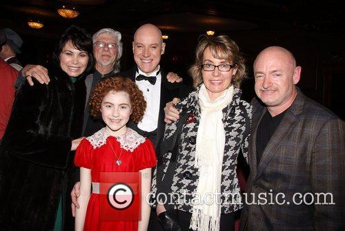 Shelly Burch, Martin Charnin, Anthony Warlow, Lilla Crawford, Gabrielle Giffords, Mark E. Kelly and Palace Theatre 1