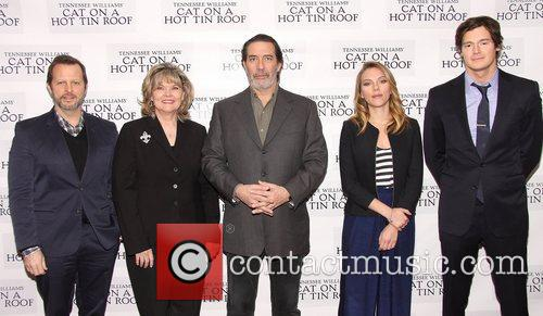 Rob Ashford, Debra Monk, Ciaran Hinds, Scarlett Johansson and Benjamin Walker