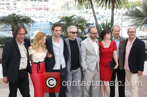 Sarah Gadon, David Cronenberg, Emily Hampshire, Martin Katz, Paul Giamatti, Paulo Branco and Robert Pattinson