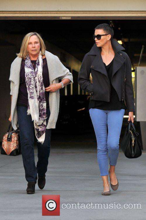 Actress Charlize Theron, Gerda Theron and Arclight Theater
