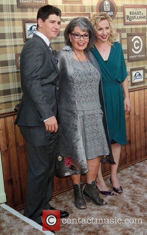Alicia Goranson, Michael Fishman and Roseanne Barr
