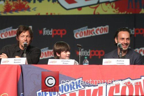 Norman Reedus, Chandler Riggs and Andrew Lincoln