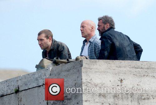 Bruce Willis and Sebastian Koch