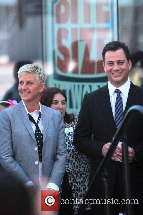 Ellen Degeneres and Jimmy Kimmel 2