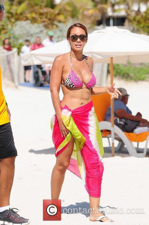 Evelyn Lozada and Pink 10