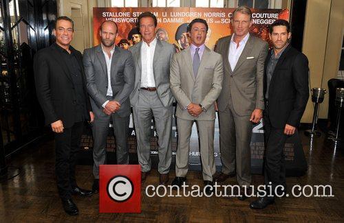 Jean Claude Van Damme, Dolph Lundgren, Jason Statham and Sylvester Stallone 1