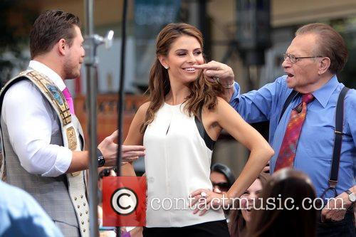 The Miz, Mike Mizanin, Larry King and Maria Menounos