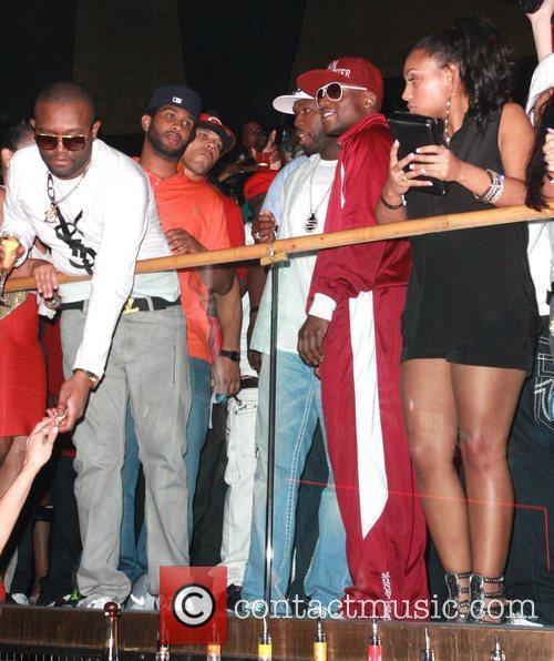 50 Cent, Curtis Jackson and Floyd Mayweather Jr. 1