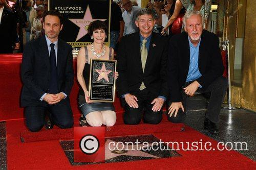 Andrew Lincoln, Gale Anne Hurd, Leron Gubler and James Cameron 1