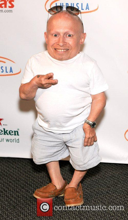 Verne Troyer and Austin Powers