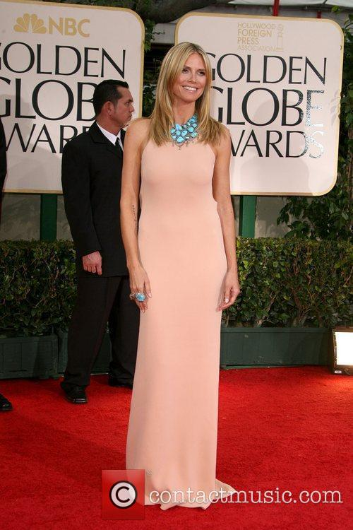 Heidi Klum, Golden Globe Awards and Beverly Hilton Hotel