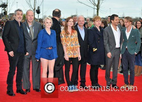 Alfonso Cuaron, Bonnie Wright, David Barron, David Heyman, David Yates, Evanna Lynch, Mike Newell, Rupert Grint and Tom Felton 2