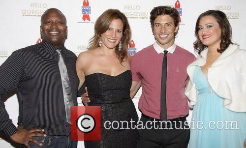 Tituss Burgess, Kristy Cates, Nick Adams and Ashley Brown