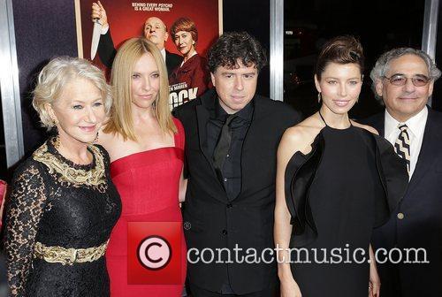 L-r, Dame Helen Mirren, Toni Collette, Sacha Gervasi and Jessica Biel