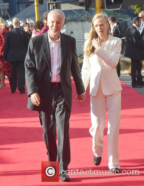 James Cameron, Suzy Amis, Hobbit Premiere, Embassy, Wellington and New Zealand