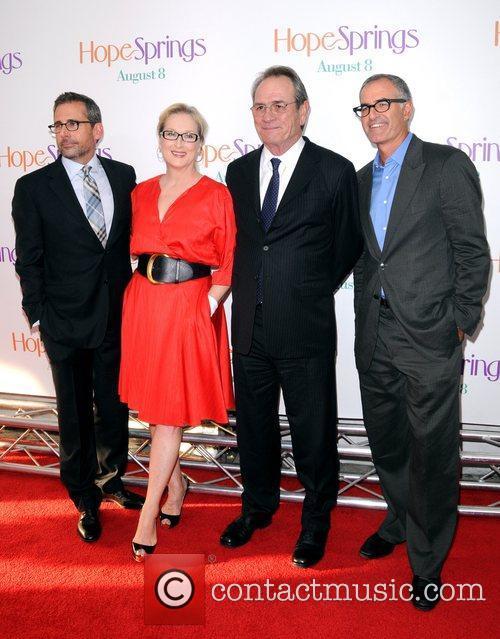 Steve Carell, David Frankel, Meryl Streep and Tommy Lee Jones