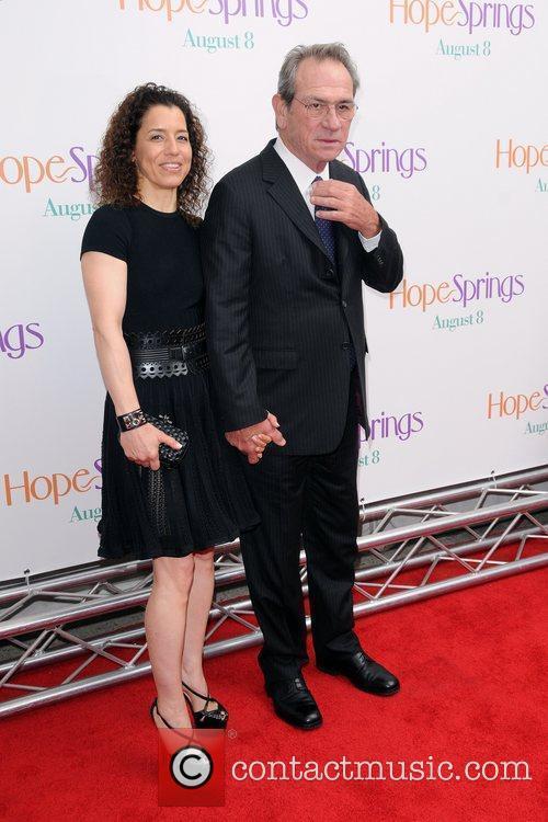 Tommy Lee Jones, David Frankel and Meryl Streep