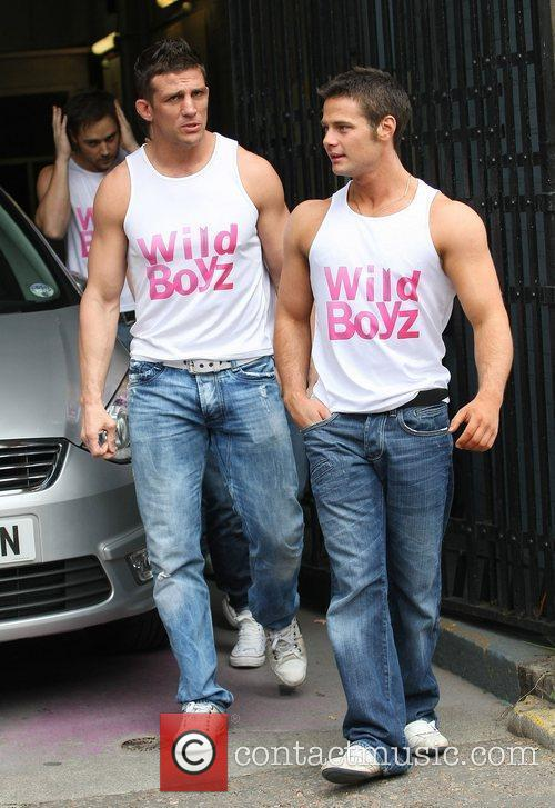 Alex Reid and Danny Young at the ITV...