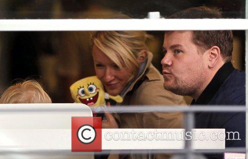 Newlyweds James Cordon, Julia Carey, Max, North London. The, At, Corden and Spongebob Squarepants 7