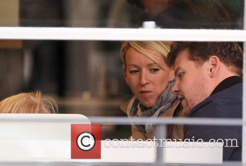 Newlyweds James Cordon, Julia Carey, Max, North London. The, At, Corden and Spongebob Squarepants 8