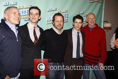 Craig Zadan, Michael Urie, Nick Jonas and Rob Ashford