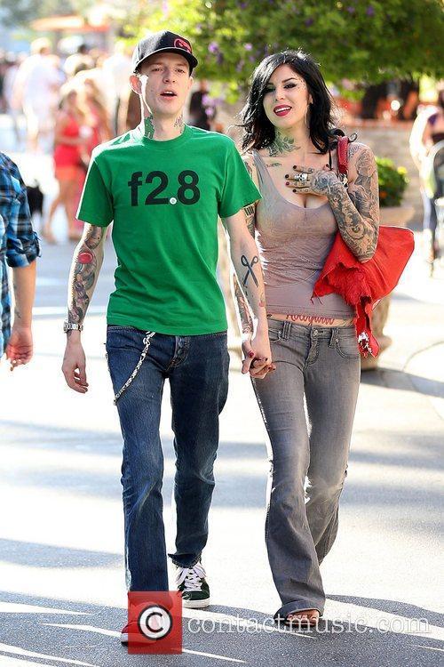 Joel Thomas Zimmerman and Kat Von D 2