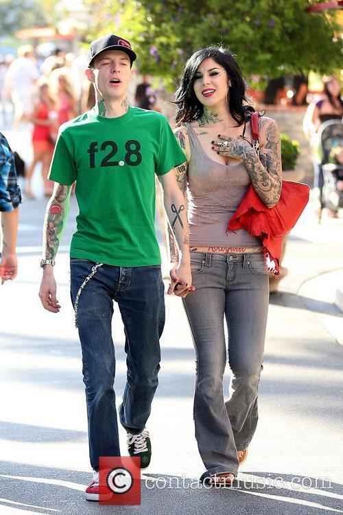Joel Thomas Zimmerman and Kat Von D 8