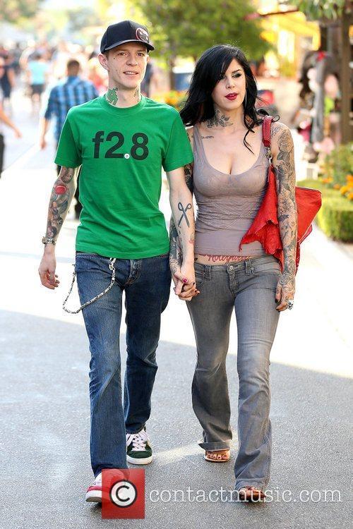 Joel Thomas Zimmerman and Kat Von D 6