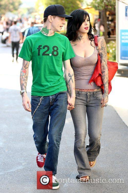 Joel Thomas Zimmerman and Kat Von D 9