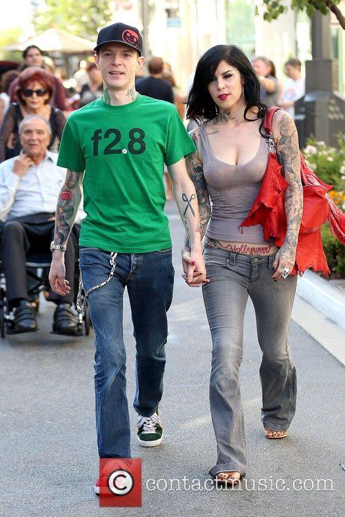Joel Thomas Zimmerman and Kat Von D 11
