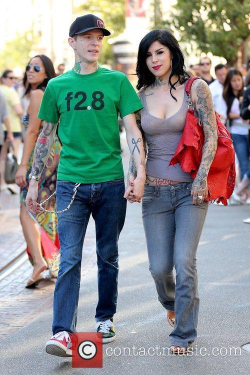 Joel Thomas Zimmerman and Kat Von D 7