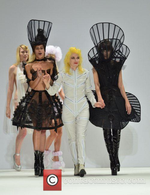 Alice Dellal and Pam Hogg London Fashion Week...
