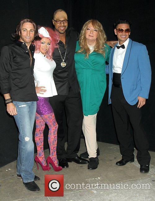 Michael Galman, Keith Urban, Kelly Ripa, Nicki Minaj, Michael Strahan, Randy Jackson, Art Moore and Mariah Carey 2