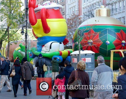 Thanksgiving Day Pre Parade, Macy's Inflation Ceremony, Upper West Side and Manhattan 10