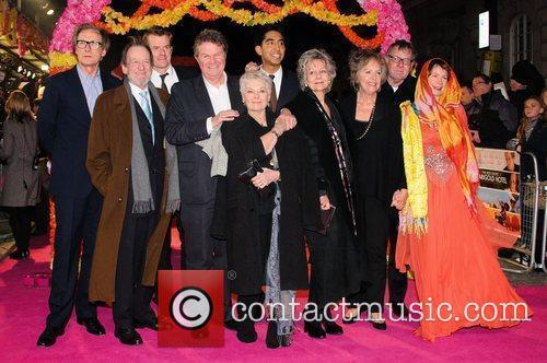 Celia Imrie, Bill Nighy, John Madden, Judi Dench, Penelope Wilton and Tom Wilkinson 10