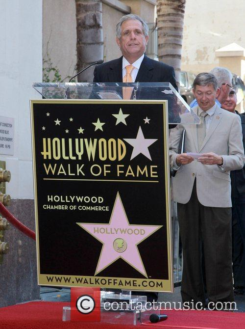 Leslie Moonves and Star On The Hollywood Walk Of Fame 1