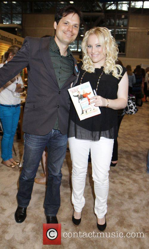 Authors Michael Ian Black and Meghan McCain with...