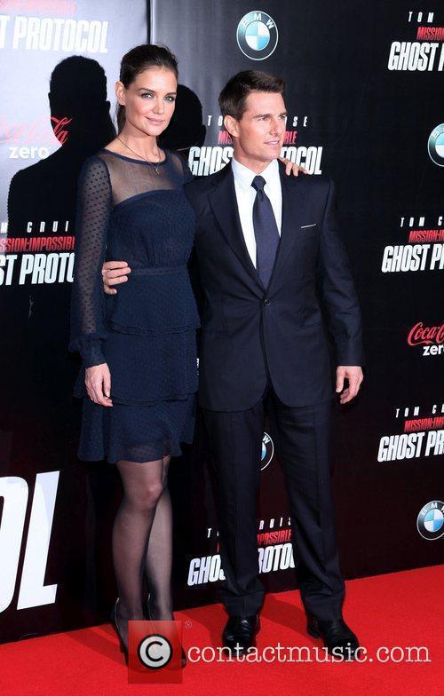 Katie Holmes, Tom Cruise and Ziegfeld Theatre 1