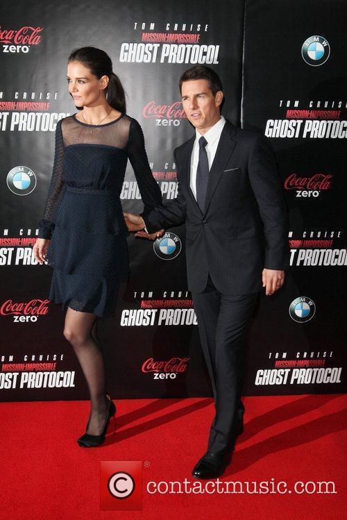 Katie Holmes, Tom Cruise and Ziegfeld Theatre 7