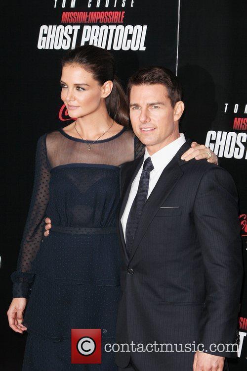 Katie Holmes, Tom Cruise and Ziegfeld Theatre 10