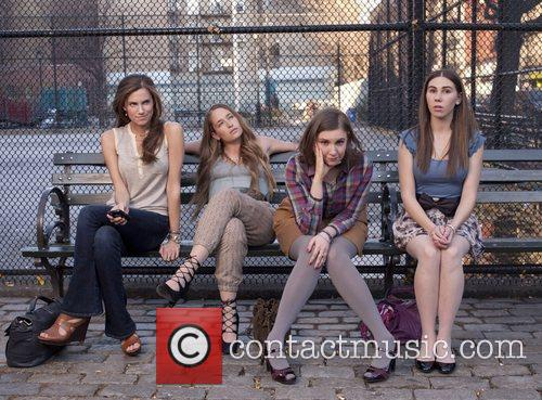 Allison Williams, Jemima Kirke, Lena Dunham and Zosia Mamet