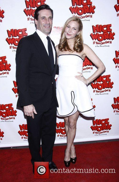 Jon Hamm, Jennifer Westfeldt and Imperial Theatre