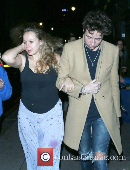 Nick Grimshaw and Samantha Morton