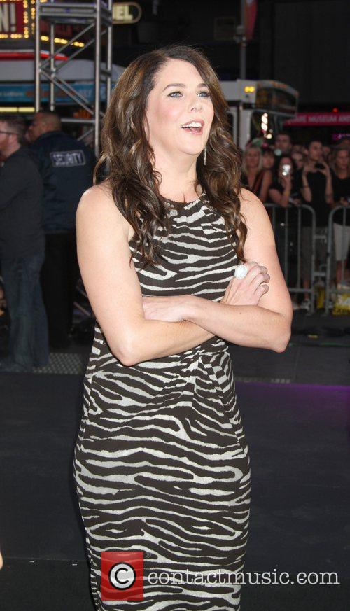 Lauren Graham and Times Square