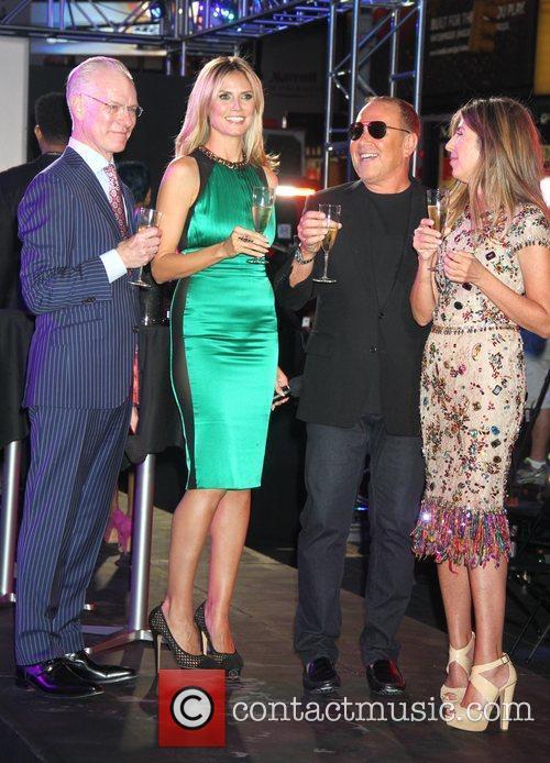 Tim Gunn, Heidi Klum, Michael Kors, Nina Garcia and Times Square