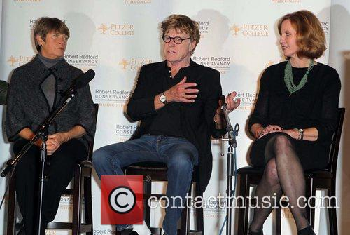 Robert Redford, Laura Skandera Trombley and Guest