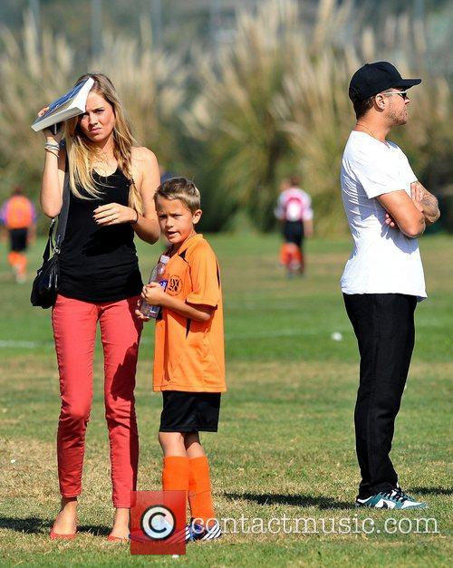 Ryan Phillippe, Paulina Slagter and Deacon Phillippe