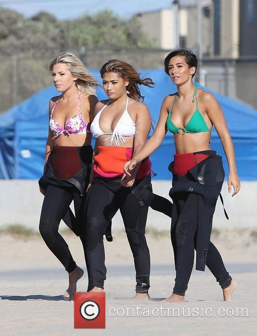 Mollie King, Vanessa White, Frankie Sandford, The Saturdays and Venice Beach